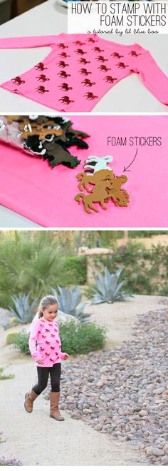 How to stamp paper and fabric with those cheap foam stickers