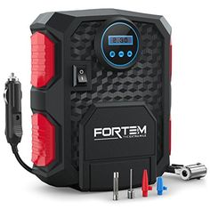 FORTEM Portable Digital Electric Car Auto Air Compressor Vehicle Tire Inflator Pump Easy To Store 12V DC 150PSI  Auto Shut Off  3 Attachments  BONUS Carrying Case *** Check this awesome product by going to the link at the image. (This is an affiliate link and I receive a commission for the sales)
