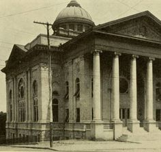 Jewish Synagogue. This image was originally published in the Atlanta Standard City Guide: A New and Complete Handbook of Atlanta with Map, Panorama, and 80 Views, 1907. A digital version of the Atlanta Standard City Guide is available in the HathiTrust Digital Library.Georgia State University. Libraries. Special Collections.