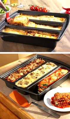 Lasagna Versatile Trio Pan // Make 3 Different Types of Lasagna, Cakes, Brownies, Breads & etc.