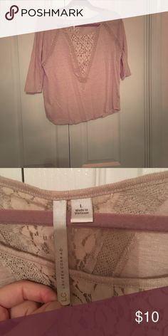 a966f4d2d71f Lauren Conrad Top 3/4 Sleeves - Lace Detail - Worn Very Few Times - Smoke  Free Home LC Lauren Conrad Tops