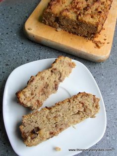 Parsnip and walnut cake - in case you're wondering it does taste slightly of parsnips, but in a good way - sweet, moist and nutty