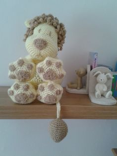 Amigurumi Crochet Animal Cushion Leo the Lion Pillow Crotchet Pattern for crochet beginner, beautiful nursery decoration, £1.99