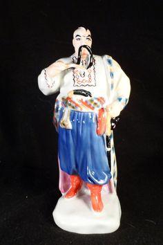 Asian Ceramic Figurine-Japanese Samari Warrior Statue-Asian Decor-Marked by BCScollectibles on Etsy
