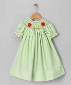 Take a look at this Green Apple Dress - Infant, Toddler & Girls by Molly Pop Inc. on #zulily today!#fall