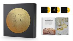 "Got it - Voyager Golden Record: 40th Anniversary Edition by Ozma Records - Art Print and Digital Download    * Lithograph of the Voyager Golden Record cover diagram, gold metallic ink on archival paper, 12"" x 12"" * Full-color plastic digital download card for all audio of the Voyager Golden Record (MP3 or FLAC formats)"