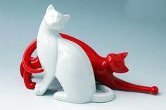 pair_of_cats, Royal Dux, návrh Valerie Koškina