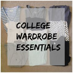 college wardrobe essentials, what you really need to bring to get you through class, sorority and everything in between, college dorm, wardr. College Packing, College Survival, College Hacks, College Outfits, College Clothing, School Outfits, College Years, College Girls, College Life