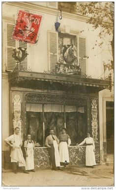 Nogent sur Marne : carte photo boucherie Vauthier Nogent Sur Marne, Style Ancien, Old Paris, Shop Fronts, Vintage Photography, Old Pictures, Hui, Vintage Shops, France