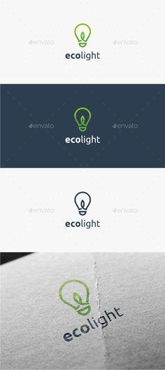 Eco Light - Logo Template: Abstract Logo Design Template created by trustha. Logo Design Template, Brochure Template, Logo Templates, Flyer Template, Logo Branding, Branding Design, Education Logo, Physical Education, Special Education