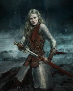 A place to share and appreciate fantasy and sci-fi art featuring reasonably portrayed women. Fantasy Warrior, Fantasy Rpg, Medieval Fantasy, High Fantasy, Fantasy Artwork, Woman Warrior, Fantasy Fiction, Final Fantasy, Tolkien