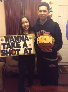 A very creative and clever way to ask a basketball player to prom or homecoming!