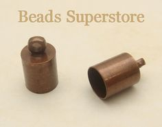 SALE 10mm x 6mm Antique Copper-Plated Brass by BeadsSuperstore