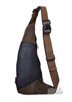Men's Leather Backpack,Small Day Pack,Over the Shoulder Bag,Sling ...