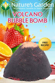 Free Volcano Bubble Bomb Recipe by Natures Garden.