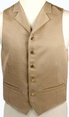 Gold Formal Mens Vest with Collar