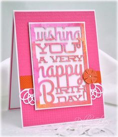PTI Die: Text Block: Birthday, Filigree Border, Button Stacks IP: Book Print, Linen & Canvas, Herringbone