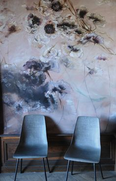Accent wall ideas for you and your home or room. You can save and share all accent wall decorating pictures. Chinoiserie, Wall Murals, Wall Art, Wall Patterns, Beautiful Wall, Wall Treatments, French Artists, Wall Wallpaper, Wall Design
