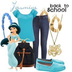 Jasmine - Back to school by colorsgalore on Polyvore featuring polyvore, fashion, style, Wallis, TOMS, Dooney & Bourke, Panacea, Monserat De Lucca, WALL and clothing