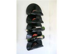 Upcycled Vinyl Record Wine Rack