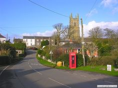 A typical shot of the village with the village green and the church in the distance. Cornwall, Distance, Sidewalk, Cottage, Gallery, Holiday, Green, Beautiful, Vacations
