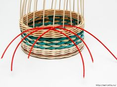 How to DIY Weave Cardboard Bottom Rattan Basket Rattan Basket, Wicker, Baskets, Paper Weaving, Paper Basket, Weaving Techniques, Basket Weaving, Diy And Crafts, Projects To Try