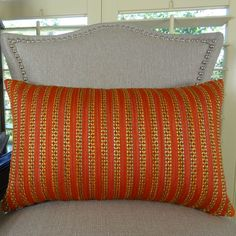 Tied Rows Throw Pillow