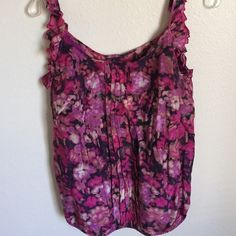 Floral top from LOFT Cute floral top worn only a few times in a very good condition  lining in solid color  LOFT Tops Blouses