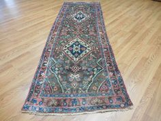 Ca1930s VG DY ANTIQUE PERSIAN LILIHAN MALLAYER SAROUK 3.2x9.7 ESTATE SALE RUG | Antiques, Rugs & Carpets | eBay!