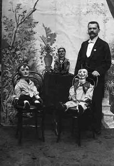 Ventriloquist and his dummies