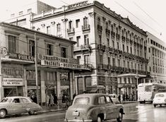 Old Athens - Panepistimiou str. in 1956 Greece Pictures, Old Pictures, Old Photos, Vintage Photos, Old Greek, Athens Greece, Greek Islands, Public Transport, Santorini