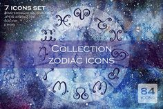 Collection zodiac icons by Veronika S. on @creativemarket