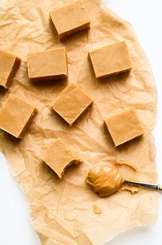 3-Ingredient Peanut Butter Fudge | vegan, gluten-free, no refined sugars.