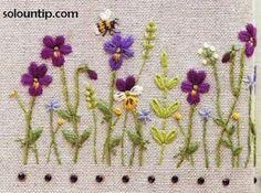 Graficos de bordado en flores ~ Solountip.com