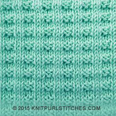 Double Broken Rib stitch | Knit and purl combinaltions - Skill: Easy | Worked in the round