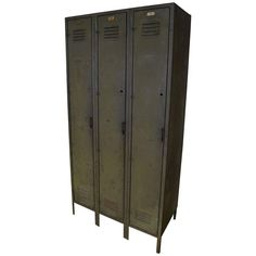 Locker of Steel With Three Doors on Chairish.com