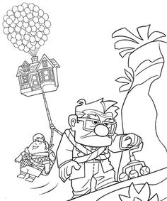 coloring book of disney characters Up coloring pages and