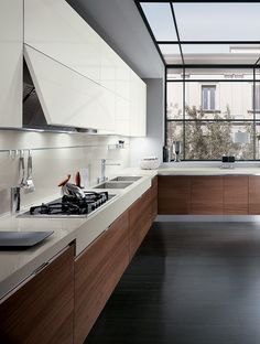 Italian Modern #Design Kitchens - Elektra by Ernestomeda