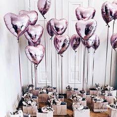 rose gold heart foil balloons wedding birthday party decoration for baby shower supplies valentine's day gifts Ballon iDeen 🎈 Brides Maid Proposal, Bridesmaid Boxes, Bridesmaid Proposal Gifts, Wedding Gifts For Bridesmaids, Bridesmaid Brunch, Heart Balloons, Foil Balloons, Wedding Proposals, Marriage Proposals