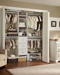 Shelf above the lower rail gives extra storage for baskets or boxes