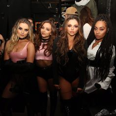 Little Mix before their first performance of #ShoutoutToMyEx on The X Factor!