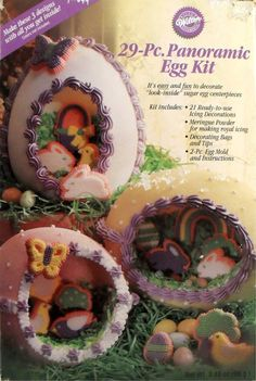 Panoramic Sugar Easter Eggs | See the small card with the code 377B7297F4F1 on it? The seller ... Panoramic Sugar Easter Eggs, Sugar Eggs For Easter, Easter Candy, Easter Recipes, Easter Ideas, Easter Crafts, Easter Decor, Easter Celebration, Holiday Cakes