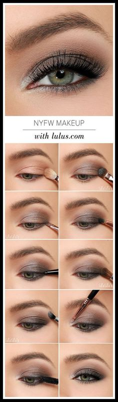 to NYFW inspired Eye Make-up tutorial. Grayish & Brown Eye shadow for dull d How to NYFW inspired Eye Make-up tutorial. Grayish & Brown Eye shadow for dull d , How to NYFW inspired Eye Make-up tutorial. Grayish & Brown Eye shadow for dull d , Smoky Eye Makeup Tutorial, Smokey Eye Makeup, Skin Makeup, Brown Eyeshadow Tutorial, Makeup Looks For Green Eyes, Makeup With Blue Dress, Wedding Makeup Tutorial, Makeup Tips Blue Eyes, Work Makeup Looks