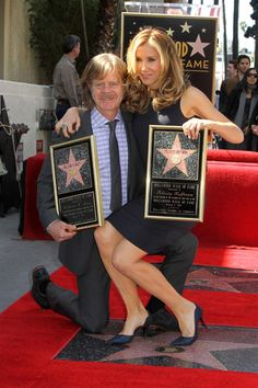 Felicity Huffman and William H. Macy honored with Hollywood Stars