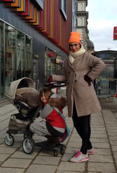 Amanda Schulman's baby in Little Jalo taupe foot muff.