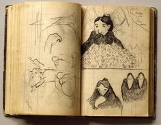 Find artworks by Paul Gauguin (French, 1848 - on MutualArt and find more works from galleries, museums and auction houses worldwide. Paul Gauguin, Moleskine Sketchbook, Artist Sketchbook, Art Sketches, Art Drawings, Artist Journal, Impressionist Artists, Illustration, Art Moderne