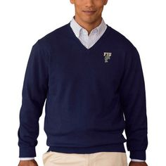 FIU Panthers Vantage Apparel Collegiate Clubhouse V-Neck Sweater - Navy