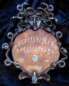"""cinnamonspider: """"Ouija board by Carrie Ann Baade """" Wicca, Magick, Witchcraft, Pagan, Medusa, Carrie, Gypsy Fortune Teller, Witch Cottage, Tumblr"""