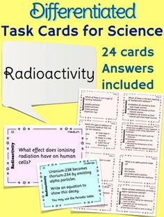 Atoms And Atomic Structure Task Cards  Worksheets Physical