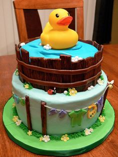 Rubber duck baby shower cake by Designer_Cakes, via Flickr